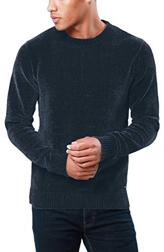 Threadbare uomo ciniglia maglia girocollo top maglione lavorato a maglia accostare aborigeno,marina militare m