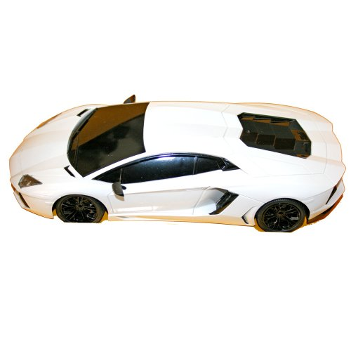 Adraxx 1:18 Scale White RC Sports Car Model With Headlights Gift For 6+ Years