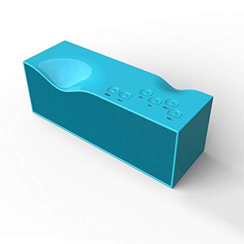 SoundCore Bluetooth-Lautsprecher Tragbarer Bluetooth 4.0-Stereolautsprecher Stilvolle, farbenfrohe kabellose Lautsprecher Ladelautsprecher und Bluetooth-Lautsprecher-Ladegerät Laute Stereoanlage,Blue