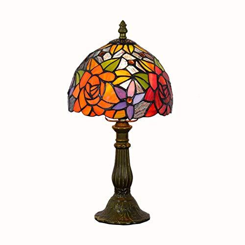 Lámpara de sobremesa estilo Tiffany de 8 pulgadas, luces de mesa retro...