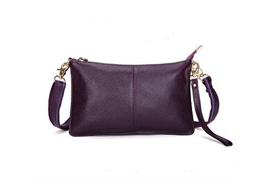 tutta la signora primo strato di messenger bag in pelle, borsa a mano, sacchetto di sera, borsa casual purple