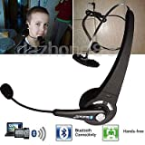 FidgetGear Bluetooth Headset Wireless Headphone w Mic for PS3 Playstation 3 & Cell