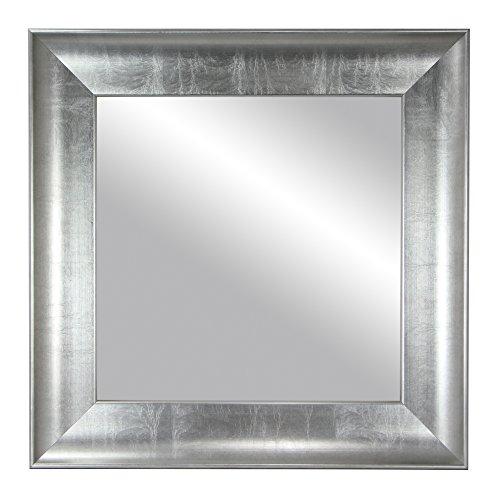 Espejo de Pared - Tamaño Exterior 71x71 cm. Fabricación Española en Pan DE Plata. Madera de Certificación Forestal Responsable.