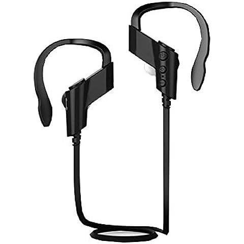 dsd Tech K6Auriculares Bluetooth para correr y de deportes al aire libre (Bluetooth 4.1, CVC 6.0cancelación de ruido, ligero, cómodo, micrófono integrado, manos libres), para iPhone y Android teléfonos