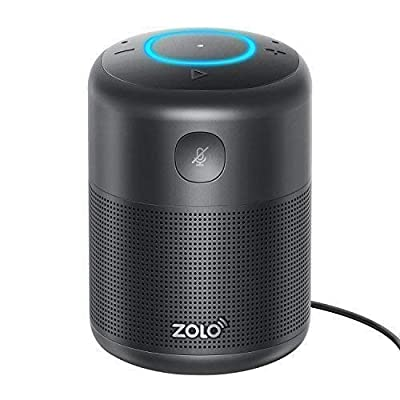 ZOLO Halo Smart Speaker with Amazon Alexa and Powerful Sound, Voice Control, and Stream Amazon Music Unlimited, Spotify, TuneIn, iHeartRadio, and Audiobooks, Bluetooth and Wi-Fi from Anker