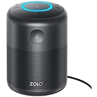 ZOLO Halo Smart Speaker with Amazon Alexa and Powerful Sound, Voice Control, and Stream Amazon Music Unlimited, Spotify, TuneIn, iHeartRadio, and Audiobooks, Control Smart Home Devices, Set Times - Bluetooth and Wi-Fi (18-Month Warranty)