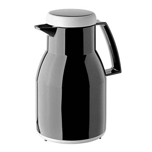 Helios 2 Stück Kunststoff-Isolierkannen Wash, schwarz, 1 l, ideal für alle Großküchen, Hotels, Restaurants, Krankenhäuser und Pflegeheime