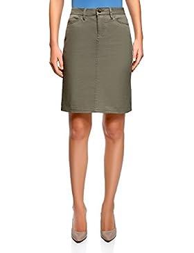 oodji Collection Mujer Falda de Algodón 5 Bolsillos