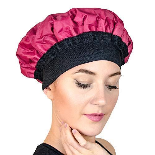 Premium-Wärmekappe zur Tiefenbehandlung von Haaren - Pflegen Sie Ihr Haar mit dem Dampf unserer mikrowellengeigneten Kappe. Empfohlen für die regelmäßige Anwendung mit Haarspülungen - Schwarze Für Haare Hot-öl-behandlung
