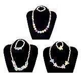 STOBOK 3 stücke Set Weihnachten Halsketten Bubblegum Perle Baby Chunky Halsketten Schmuck mit Armband