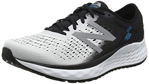 New Balance Herren Fresh Foam 1080v9 Laufschuhe, Weiß (White/Black/Deep Ozone Blue), 44.5 EU -