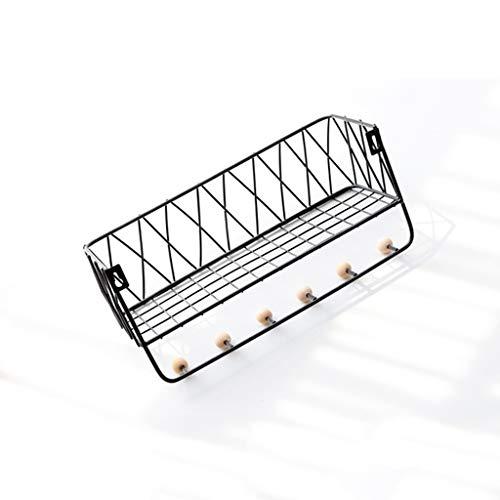 Eisen-veranda (Ainaobaoybz Garderobenständer Baumform,Kleiderständer, Garderobe aus Eisen  Wandbehang für Schlafzimmer Wohnzimmer Veranda  Schlüssel, Tasche, Regenschirm, Hutablage (schwarz) (Size : 35.5cm))