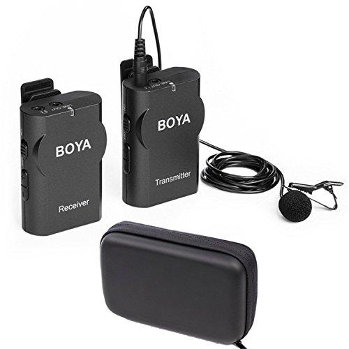 Neuestes BOYA Universal Lavalier drahtloses Mikrofon mit Echtzeit-Monitor für iOS Smartphone Tablet DSLR Kamera Sony RX0 Camcorder Audio Recorder PC Audio/Video