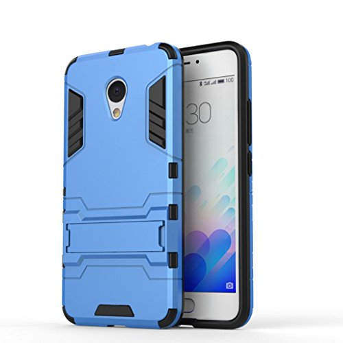 Chevron Back Cover Case for Meizu m3 note (Blue) [Military Grade Version 2.0 With Kick Stand Hybrid Back Cover Case]  available at amazon for Rs.145