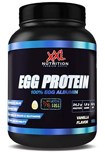 XXL Nutrition Egg Protein   Ei Eiweiß Fettfrei - Nur 0,2 Gramm Zucker   1000g (Vanille)