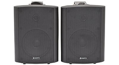 QTX BC5A Coppia casse attive diffusori altoparlanti da muro (30 Watt RMS, sistema a 2 vie, RCA) nere occasione - Polaris Audio Hi Fi