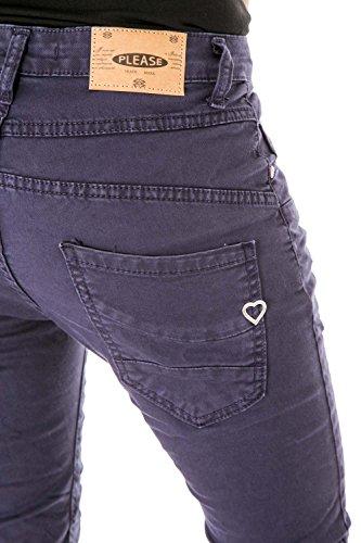 PLEASE - P78a 4u1 femme wrinkled jeans pantalon baggy Bleu Foncé