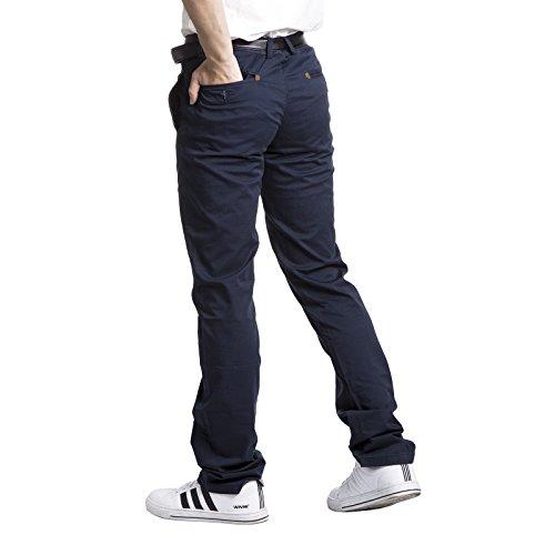 Homme Robelli Fin Quinte-Fit 100% Coton Designer Pantalon Chino Bleu Marine