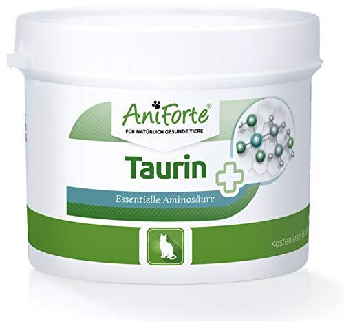 AniForte 100% Taurin 100g für Katzen - Essentielle Aminosäure, Regulation Nervensystem & Immunsystem, Unterstützung Funktion des Herzens, Perfekte Futter-Zugabe und Ergänzung für Ihr Tier