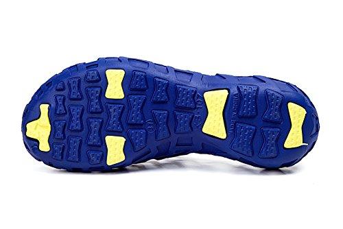 Superleichte Wassersportschuhe Liebspaar Unisex Crocs Strandschuhe Schnelltrockende Wasserschuhe Badeschuhe für Damen und Herren Blau