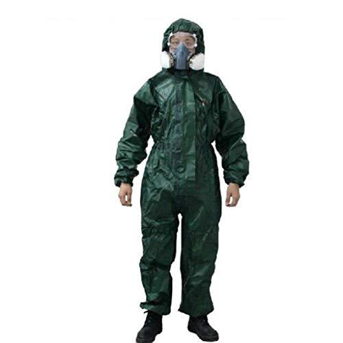 KLGW Schutz- und Sicherheitsarbeit Schutzkleidung für flüssigen Chemikalienschutz Lackierte Overall-Säure- und Alkali-Schutzkleidung (Size : XXXL) (Langarm Mikrofaser Erwachsene)