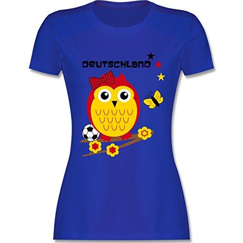 EM 2016 - Frankreich - Deutschland Eule - tailliertes Premium T-Shirt mit Rundhalsausschnitt für Damen Royalblau