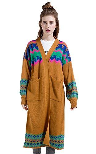 Insun - Gilet - Femme Camel