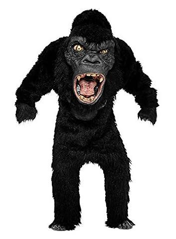 Monster Gorilla Deluxe Kostüm - schwarz - One Size (Deluxe Gorilla-kostüm)