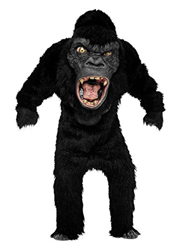 Monster Gorilla Deluxe Kostüm - schwarz - One Size (Party Monster Film Kostüme)