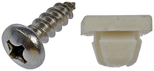 Dorman 785-166 License Plate Fasteners - 14 x 3/4 In, Pack of 4 -