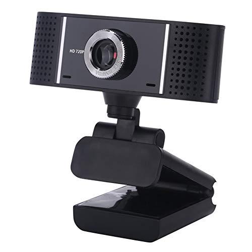 WAN USB-Webcam, HD 720P Kamera, Driverless, Sensor 10 Megapixel, für XP, Windows, Android und Linux (Schwarz)