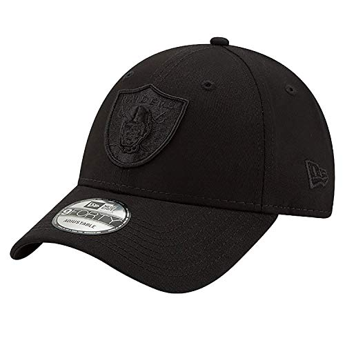 New Era 9Forty Snapback 2 Adjustable Cap Oakland Raiders Schwarz Schwarz, Size:ONE Size