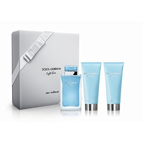 Gabbana Body Cream (DOLCE & GABBANA LIGHT BLUE EAU INTENSE EAU DE PARFUM 100 ML VP. + BODY CREAM 100 ML + GEL 100 ML SET)