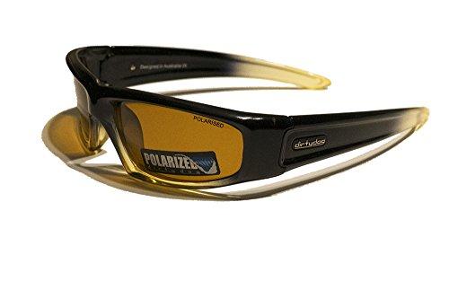 Dirty Dog Putty Brille, Unisex Erwachsene S Schwarz/Gelb