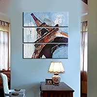 FanVass Su tela Art Landscape Torre Eiffel Set di 3 , 12