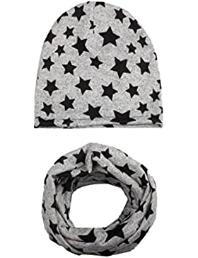 Mützen Schals Baby Hüte Winter Halsbänder Caps 2PCS SOMESUN Setzt Sterndruck