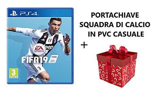 FIFA 19 VERSIONE ITALIANA PER PS4 + PORTACHIAVE CALCISTICO IN PVC CASUALE