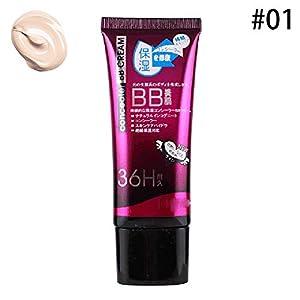 Beito 1 UNID Natural BB Cream Ligero Base Hidratante BB Cream Con Spf Protección Solar Brillo para la Piel y Crema Antienvejecimiento Para Todo Tipo de Piel(01Ivory White)
