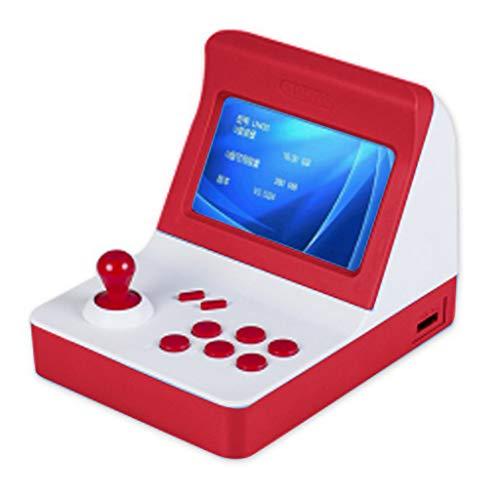 bloatboy Spielekonsole Mini Portable -Arcade-Spiel Retro-Maschinen mit 3000 klassischen Videospielen - Gaming System Kinder Tiny Toys (Rot)