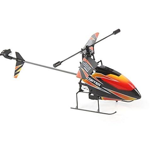 Ularma WLtoys V911 RC Hélicoptère Drone Radio 4CH 2. 4 G Unique Lame Hélice Gyro RTF (Orange)