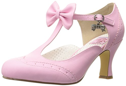 Flapper-11 T-Spangen Pumps, Pink Faux Leather PNPU, 40 EU ()