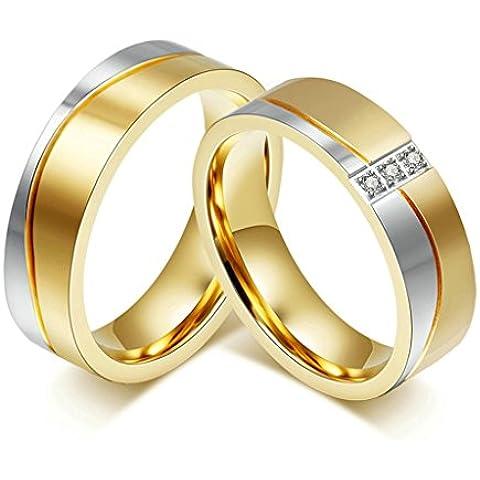 Alimab gioielli anelli donne inox in acciaio onda Banda nozze - Università Delle Donne Orologio Del Cuore