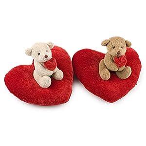 Mopec- VA799 Osito Sentado en cojín-corazón Surtido, Pack de 4