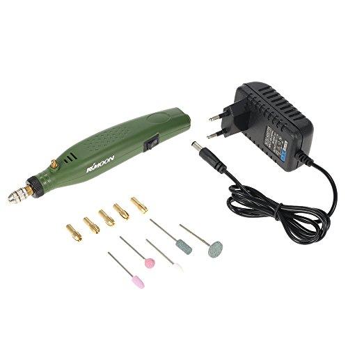 Preisvergleich Produktbild KKmoon AC110-230V Mini Elektrische Schleifer Set, Elektrische Bohrmaschine Werkzeugsatz mit 5 Schleifsteinen und 6 Ersatz Bohreren EU Stecker für Fräsen Bestellen Polieren Bohren Schneiden Gravieren