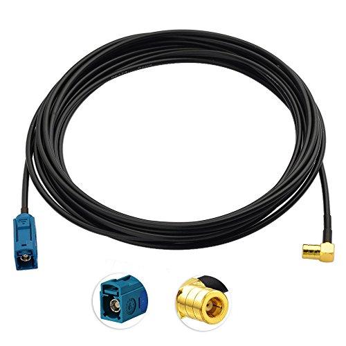 fakra kabel Toiot DAB Kfz Antenne Kabel Fakra Buchse Adapter zu SMB Buchse Stecker 5m Verlängerungskabel für Autoradio Clarion Kenwood Pioneer Pure JVC Alpine