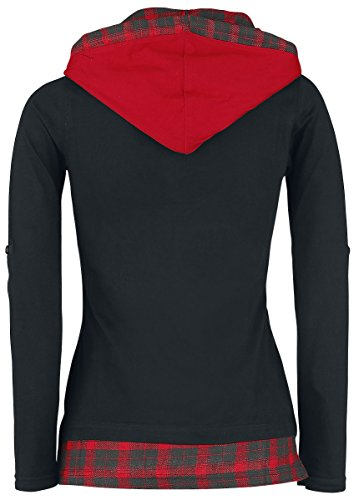 RED by EMP With You Around Manches Longues Femme Noir/Rouge noir/rouge