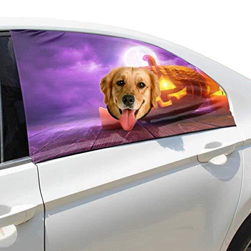 (Halloween Geschnitzte Kürbis Kerze Faltbarer Hund Sicherheit Auto Gedruckt Fenster Zaun Vorhang Barrieren Protector Für Baby Kind Einstellbare Flexible Sonnenschutzabdeckung Universal Fit Für Suv)