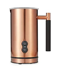 Cafe Casa Premium Copper Electric Milk Frother: Dual Function - Foams Milk & Also Can Warm Milk For Lattes & Cappuccinos