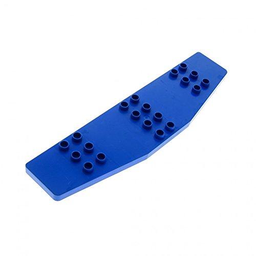 Bausteine gebraucht 1 x Lego Duplo Tragfläche Blau Flügel Passagier Flugzeug Jet groß Airplane 2155