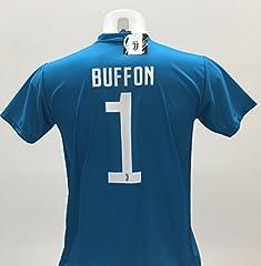 Idea Regalo - Maglia Calcio Buffon 1 Juventus Replica Autorizzata 2017-2018 bambino (taglie 2 4 6 8 10 12) adulto (S M L XL) (M)